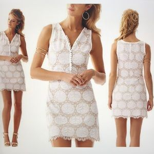 Lily Pulitzer resort white lily lace dress 4 NWT